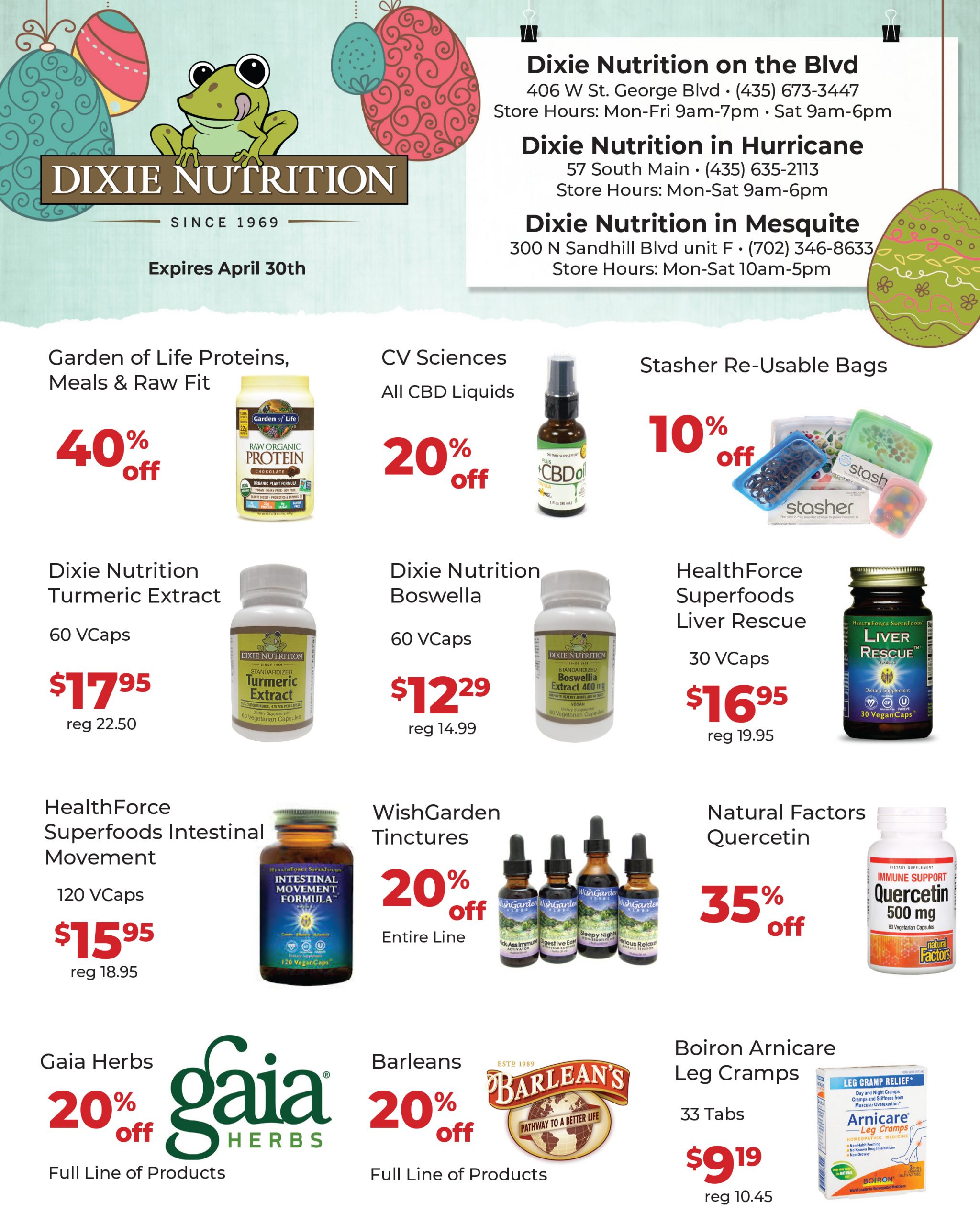 Dixie Nutrition May Ad 2